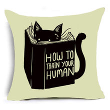 Comwarm 43*43cm Cute Cats Animal Polyester Square Pillow Home Chair Decoractive Printed Throw Pillows Poszewki Na Poduszki