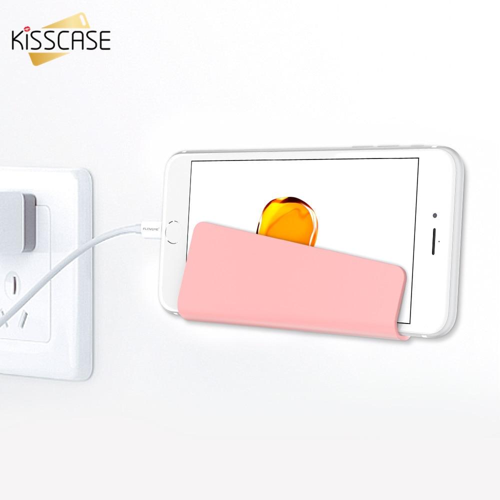 Kisscase pared holder universal para iphone 5 5s se 6 6 s 7 7 plus teléfono del