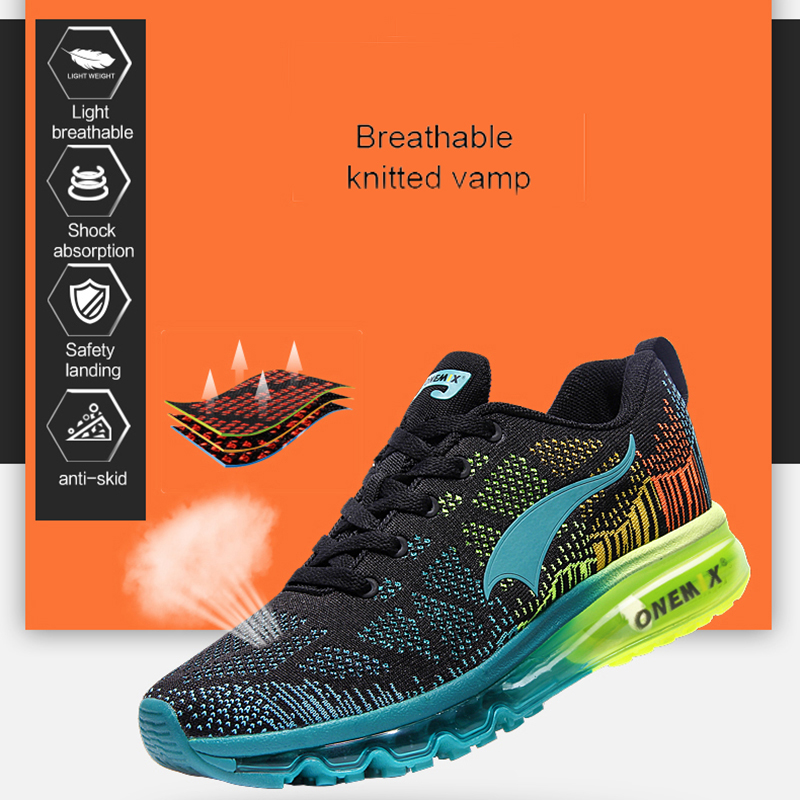 ONEMIX Men's Running Shoes Women's Sports Sneakers Breathable Mesh Athletic Walking Shoes Size 35-47 For Outdoor Sports Jogging