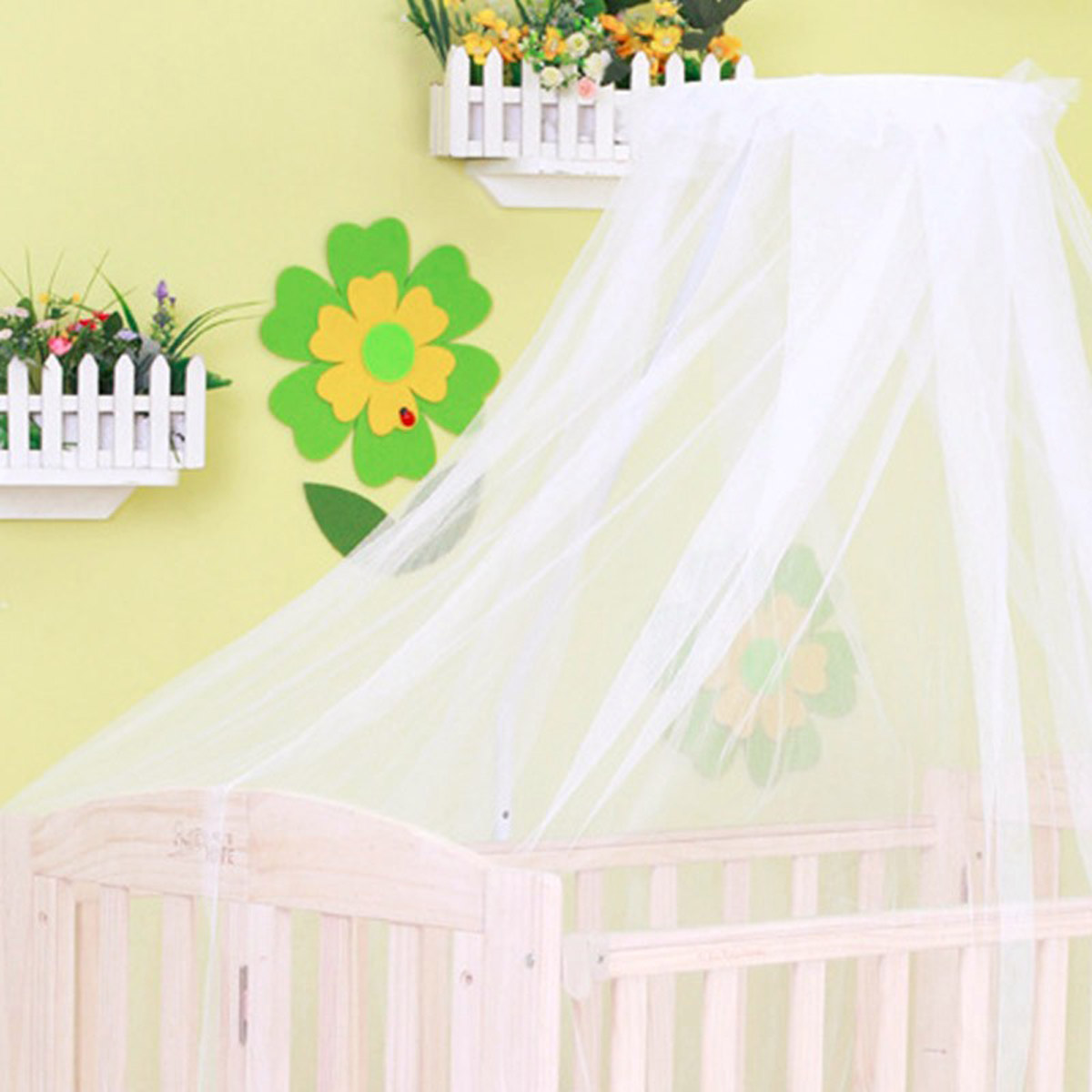 Summer Baby Bed Cradle Hung Dome Mosquito Net Toddler Newborn Infant Bedding Tent Princess Mesh Kids Portable Crib Netting White