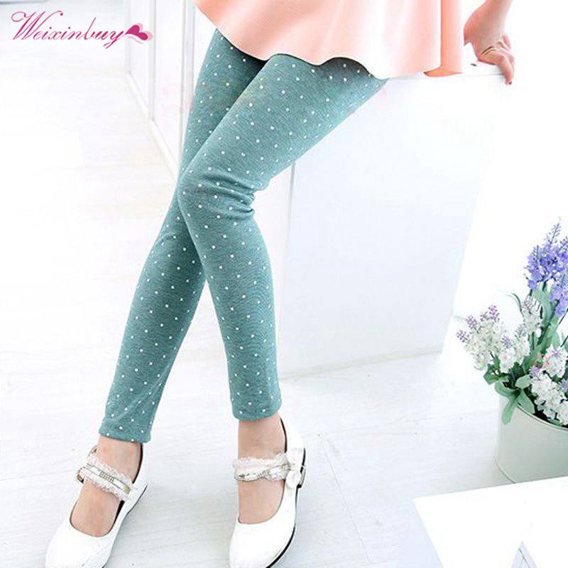 c5c0c1d5f WEIXINBUY Toddler Baby Kids Girl's Dot Pants Stretchy Leggings Soft Trousers  Candy Color Size 2-7Y