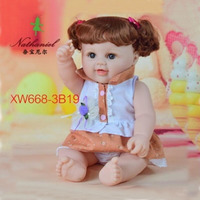 48cm Cute Baby Doll 3D Eyes Lifelike Face Hair For Comb Silicone Reborn Vinyl Adora Small