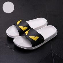 цены Men Shoes Flip Flops Couple Home Slippers Comfort Flat Platform Slipper Thick Heel Outdoor Slides Stripe Beach Sandals