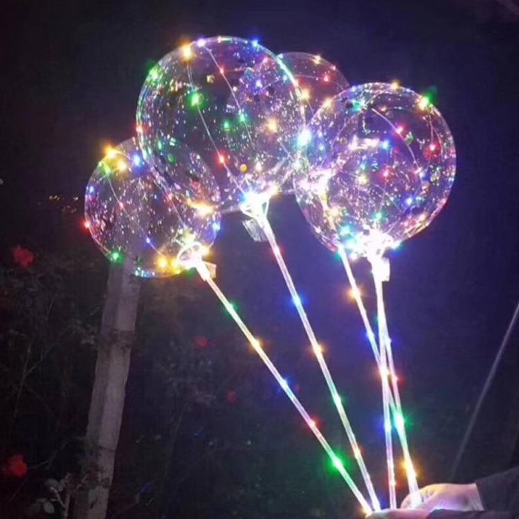 100 set 18 inch LED Light Balloon Led BoBo Balloon Lights For Birthday Wedding Christmas Decorative