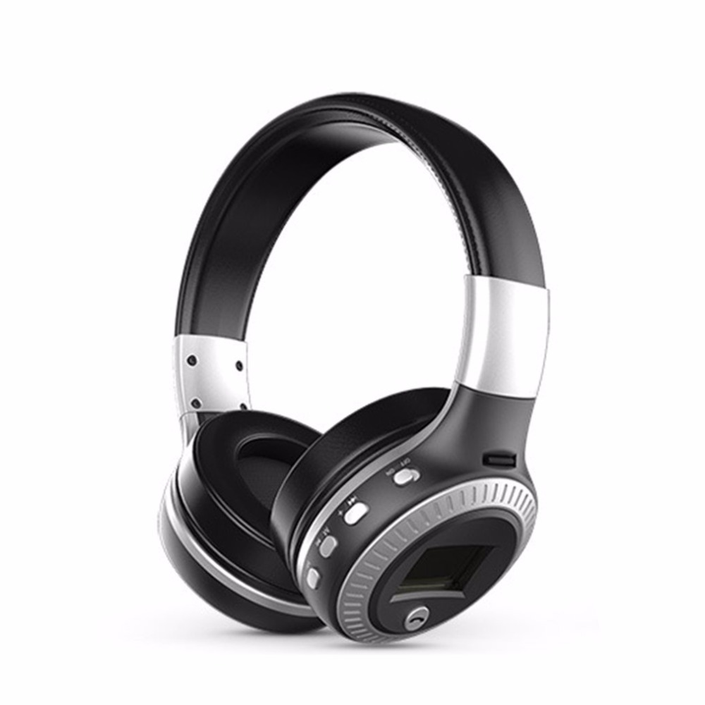Bluetooth Headphones LCD Display Wireless Stereo Headsets Headphone With Mic Micro-SD Card Slot FM Radio For Phone & PC economic set original nia q1 8 gb micro sd card a set bluetooth headphone wireless sport headsets foldable bluetooth earphone