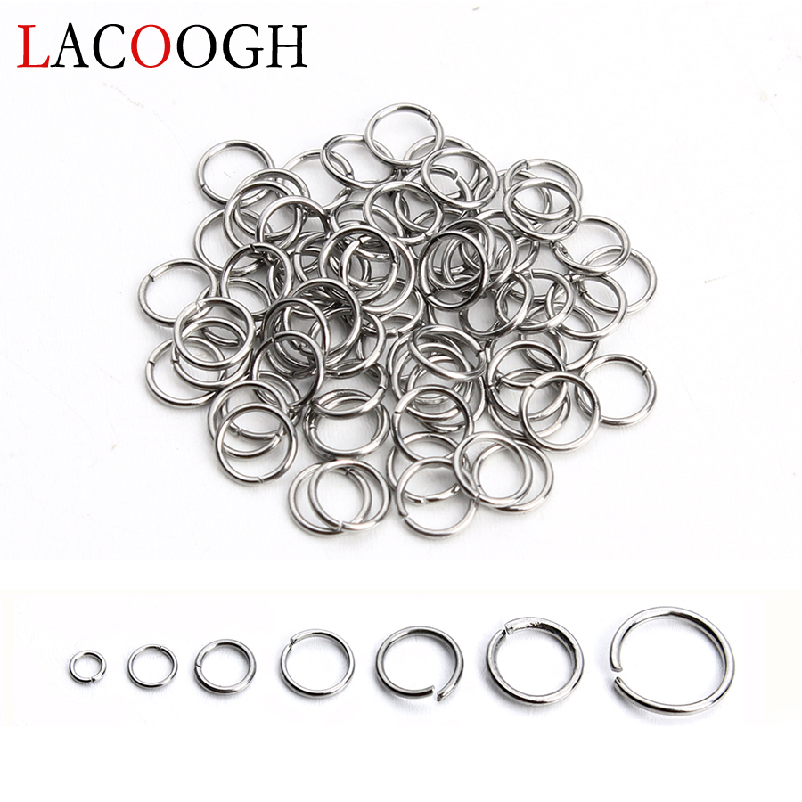 Beads & Jewelry Making Delicious Wholesale 200pcs Stainless Steel Open Jump Rings 3/4/5/6/7/8/10mm Silver Tone Split Rings Connectors For Diy Jewelry Findings Clear-Cut Texture