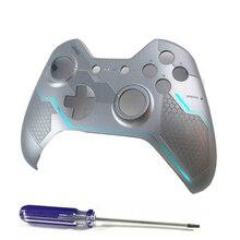 Originele Zilveren Halo 5 Top Shell cover Skin behuizing case Bovenste voor XBOX EEN controller Gamepad + T8 Schroevendraaier