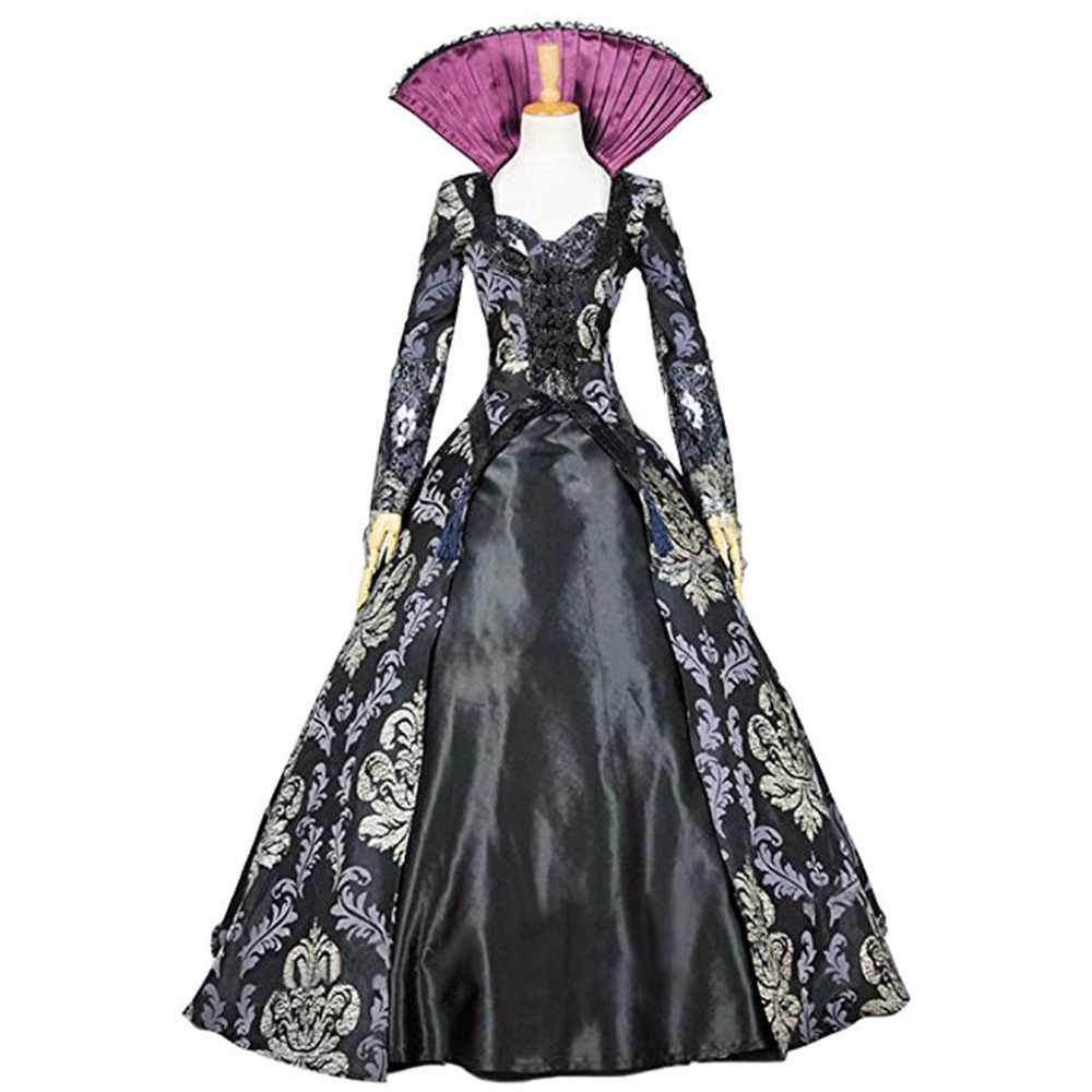 Once Upon A Time 3 Regina Mills Dress Cosplay Costume For Adult Women Halloween Custom Made D0814