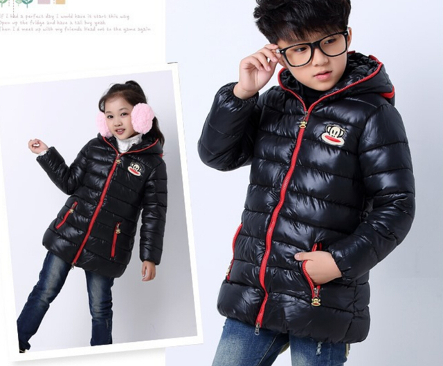 748628a931cc Free shipping Kids Girls Boys Quilted Down Puffer Jacket Zip Thick ...