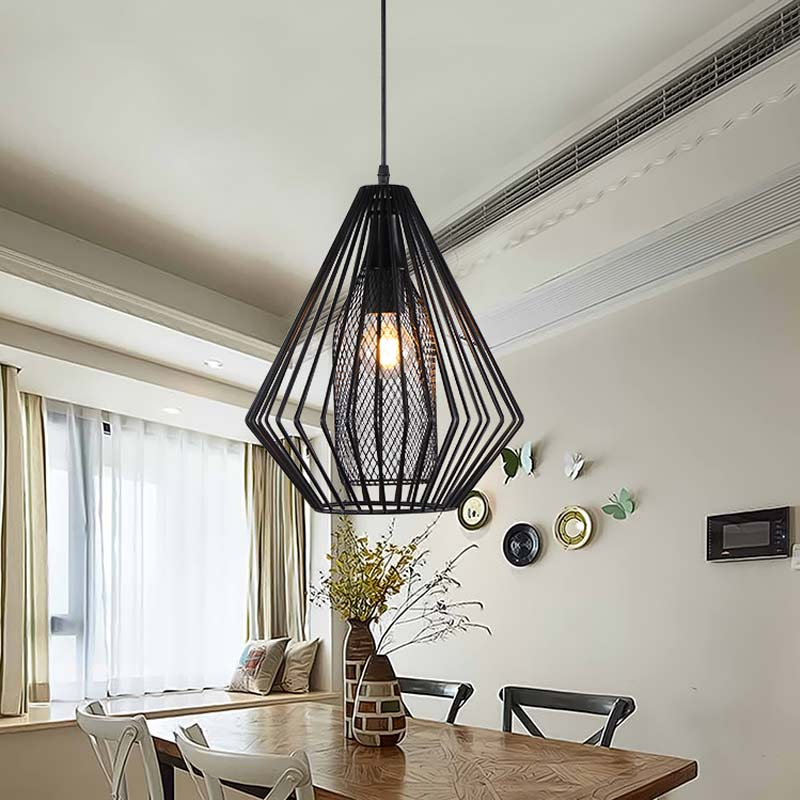 Industrial Fixtures Modern W Led Bulb Pendant Lights Dining Room - Black iron kitchen light fixtures