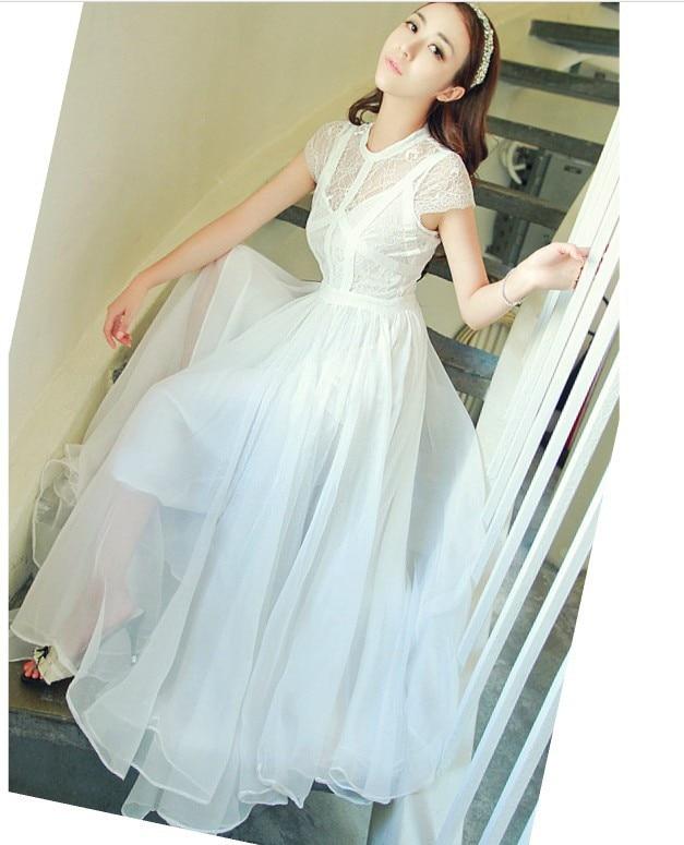 Aliexpress.com : Buy Discount! Fashion Summer White Maxi Dress ...