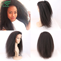Brazilian Virgin Hair Kinky Straight Wig For Black Women Italian Yaki Full Lace Human Hair Wigs With Baby Hair 130% Full Density