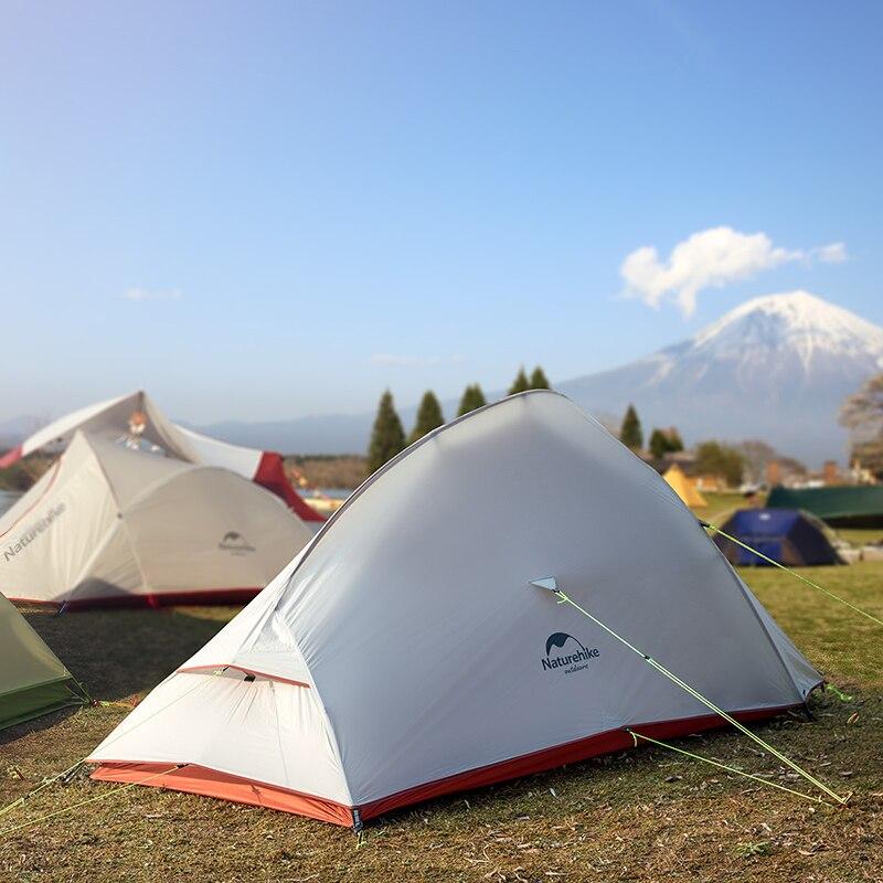 Naturel randonnée libre auto debout 20D Silicone tente Double couches 1 2 3 personne ultra-léger en plein air Camping tente nuage UP mis à jour - 3