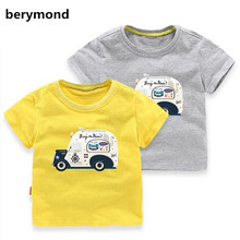 NEW Cartoon Car Children t Shirts Car Summer Boys Kids Short Sleeve Tees Cotton Baby Clothing Boys' t-Shirts Child Toops Tees