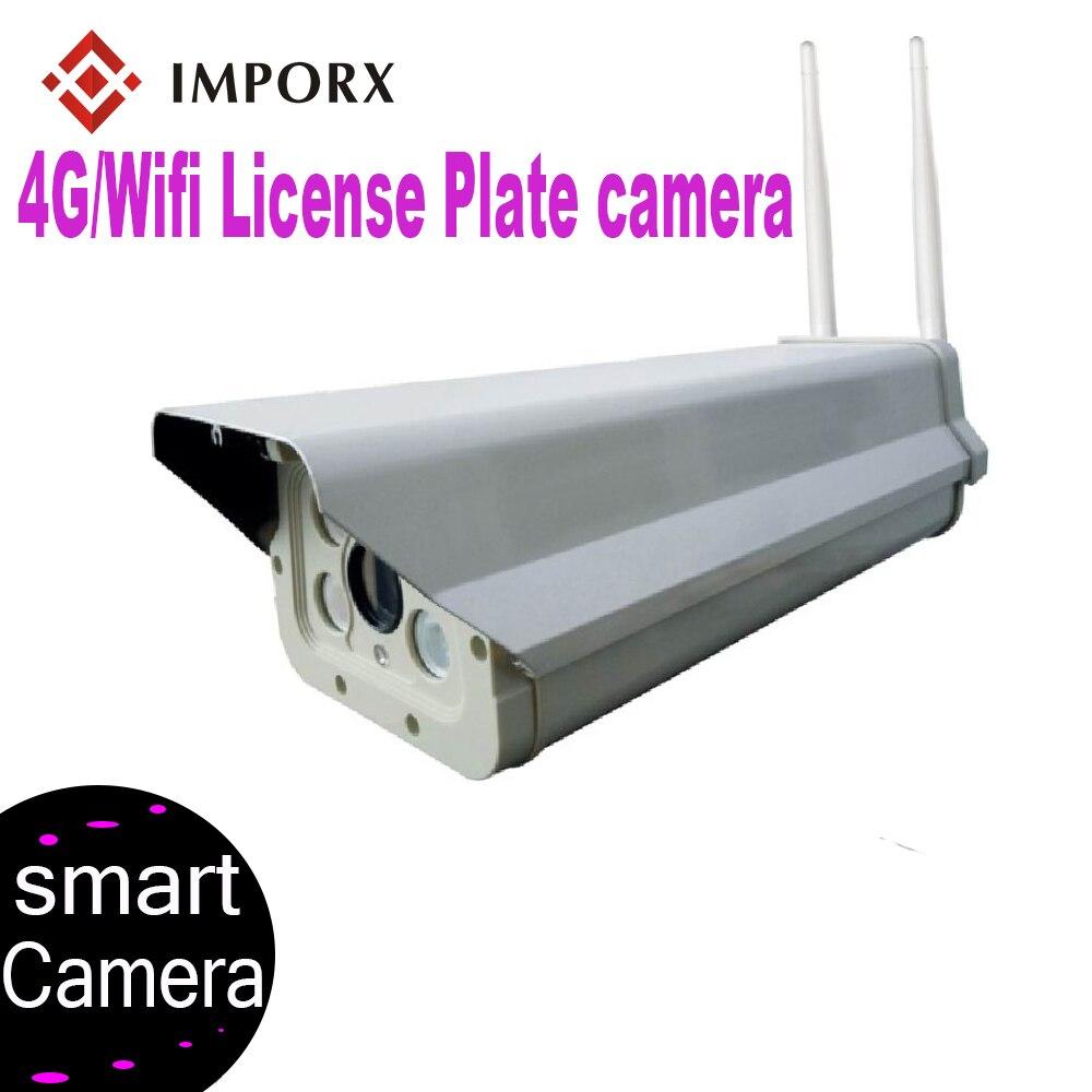 IMPORX 4G plaque d'immatriculation caméra 1080 P HD extérieur Wifi caméra filaire réseau 2MP nuit plaque d'immatriculation reconnaissance moniteur en temps réel