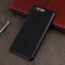 Solque Genuine Leather Case For Huawei P10 Plus Cell Phone Luxury Matte Skin Slim Back Cover Cases Retro Vintage Style