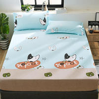 1pc 100% Cotton Fitted Sheet Mattress Cover Printing Bedding Four Corners With Elastic Band Bed Sheet 120*200/150*200/180*200cm