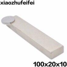 """10 יחידות 100*20*10 מ""""מ מגנטים חזקים סופר L100X20X10mm N50 Neodymium נדיר Earth מגנט בר 100x20x10 משלוח חינם"""