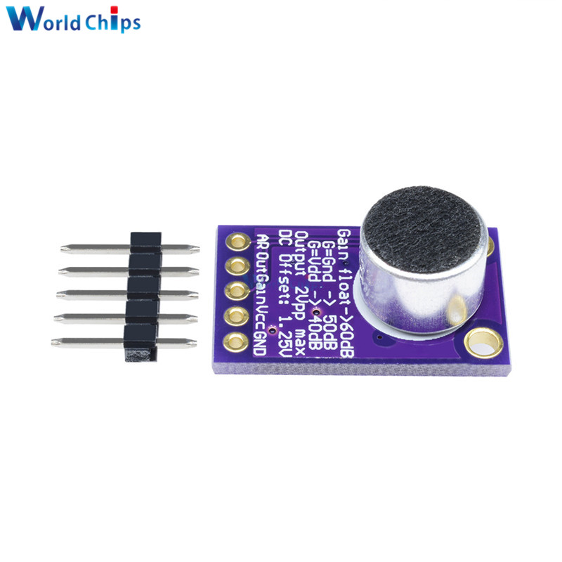 Microphone Amplifier Stable MAX9814 Module Auto Gain Control 2.7-5.5V NEW