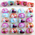 hot sell 50pcs popular high quality elsa anna rings lovely cute Princess Resin Lucite Rings  fashion Jewelry Jewellery