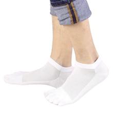 HOT 1 Pair Men's Mesh Socks Soft Cotton Breathable Socks Five Toe White Black funny sock