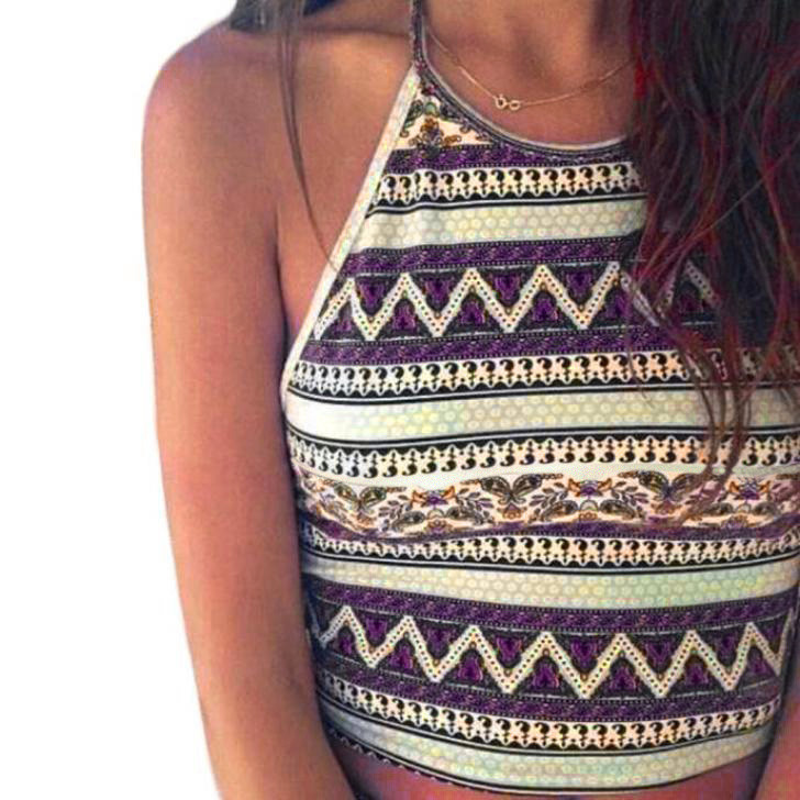 Vest Crop Blouse Tank-Tops Boho Cami Bustier Bralette Shirt Canottiera Women Verano Donna