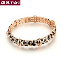 Top Leopard Calidad de Impresión Rose/Oro Blanco Plateado Brazalete Hecho con Cristales Austriacos Genuinos Al Por Mayor ZYB026 ZYB027