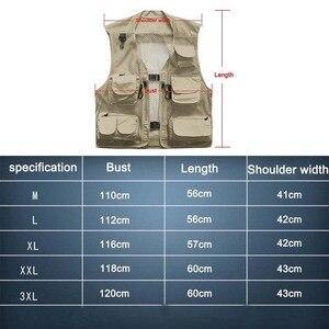 Image 2 - 초경량 낚시 조끼 빠른 건조 메쉬 전술 조끼 따뜻한 군사 캠핑 조끼 야외 남자 양복 조끼 멀티 포켓