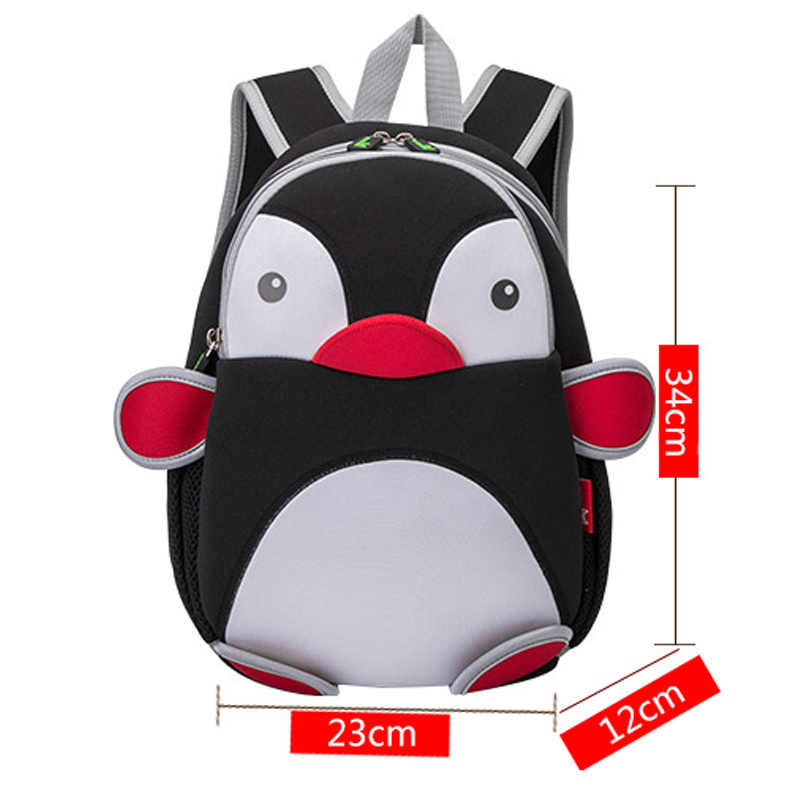 6887e6f36a67 ... NOHOO 3D Penguin Waterproof Bags For Girls Boys Animals Backpack  Toddler Children Cartoon School Bag Kid ...