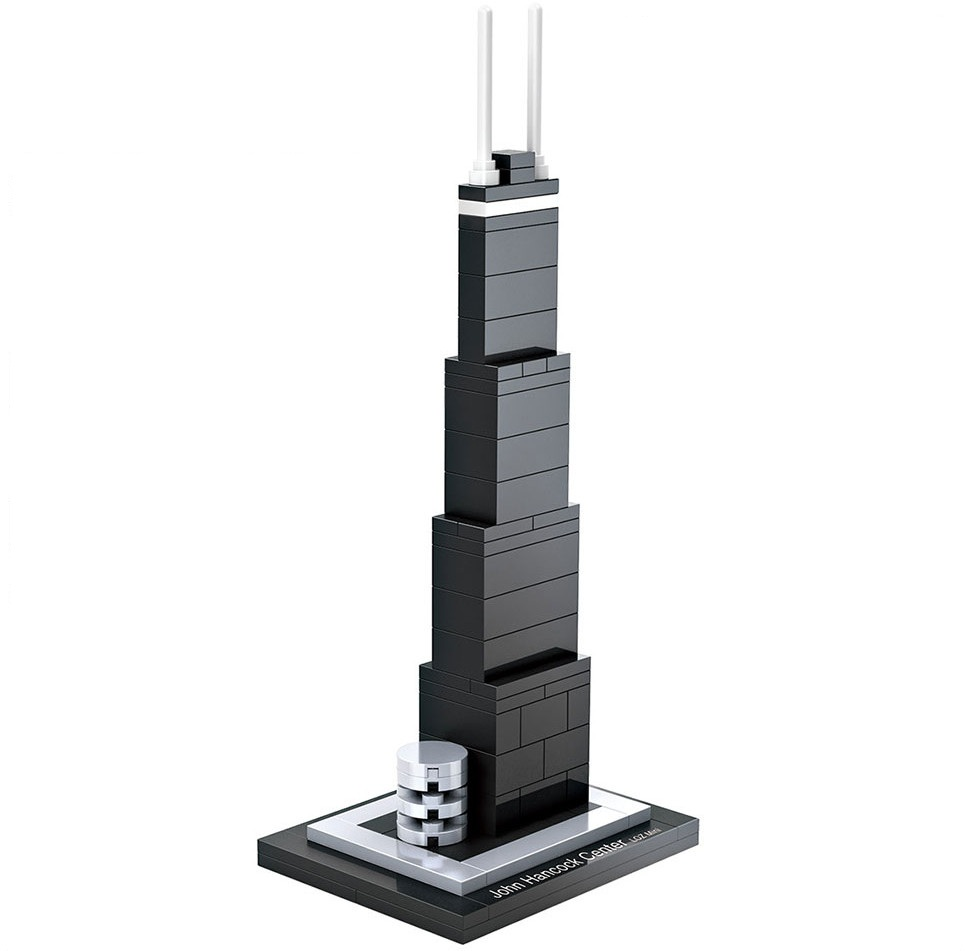 LOZ Architecture City Mini Chicago John Hancock World Famous Model Building Blocks Sets Bricks Classic Kids Gifts Toys lepin city town city square building blocks sets bricks kids model kids toys for children marvel compatible legoe