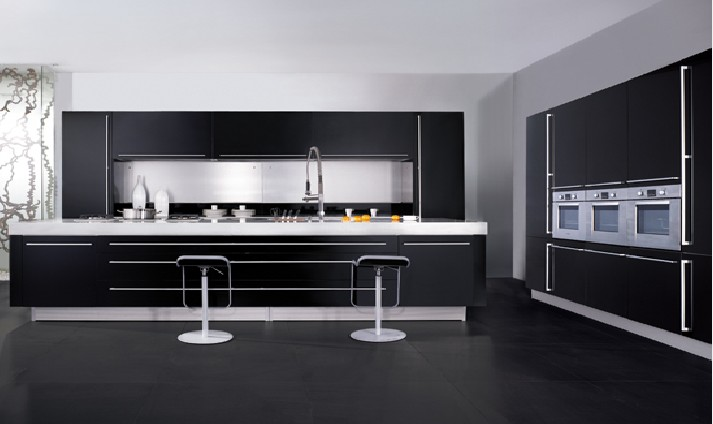 China kitchen cabinets black color on for Chinese kitchen cabinets