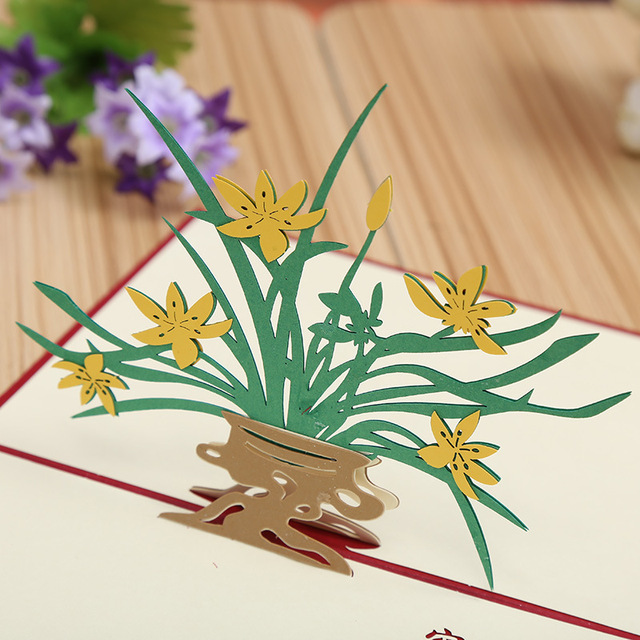 Factory direct selling orchids three dimensional creative teachers factory direct selling orchids three dimensional creative teachers day holiday greeting cards can be m4hsunfo