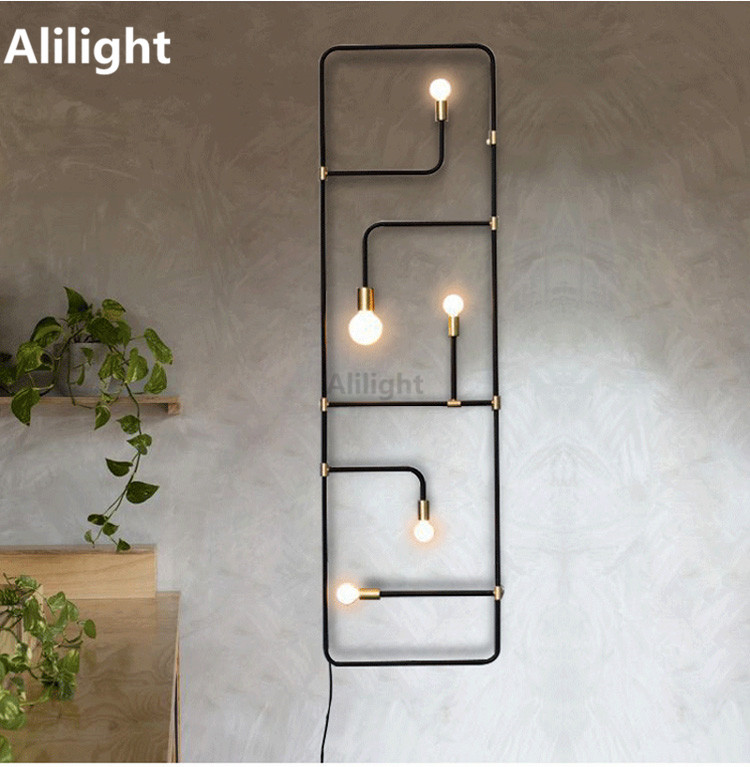 Modern LED Wall Lamp Creative Lighting Wall Light Entrance Hall Homemade Rustic  Sconces Staircase Corridor Home Decor Fixtures In Wall Lamps From Lights ...