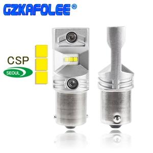 Gzkafolee 1156 1156 ba15s led p21w S25 7506 BAY15D P21/5W противотуманная фара стоп-Лампа Белый сигнальный фонарь 1800LM CSP Y19