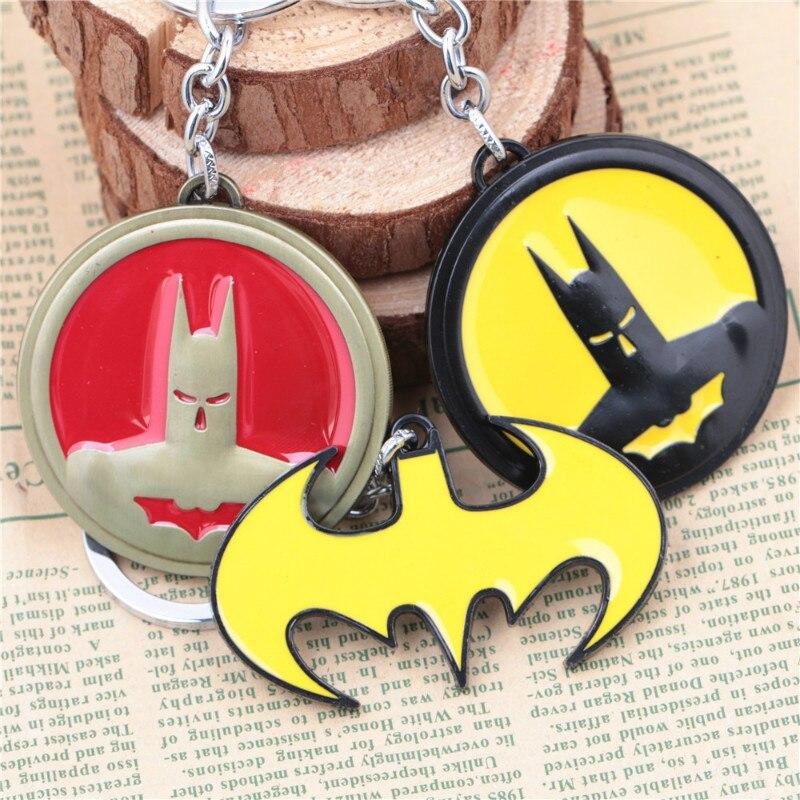 Avengers: Infinity War Super Hero Batman Superman Keychain antique Tin bronze Keyrings Chain Pendant Car Key Holder Accessories