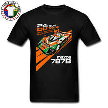 Miata 787B Race Car Cool Tshirt Great Shirts For Men 100% Cotton Crewneck Male Tops T Shirt Funny Top Quality Clothing