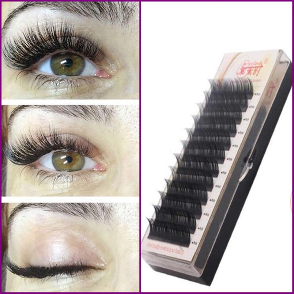 Free Shipping Individual Silk Eyelash Further All size,High Quality Eyelash Extension Mink,Individual Eyelash Extensions(China)