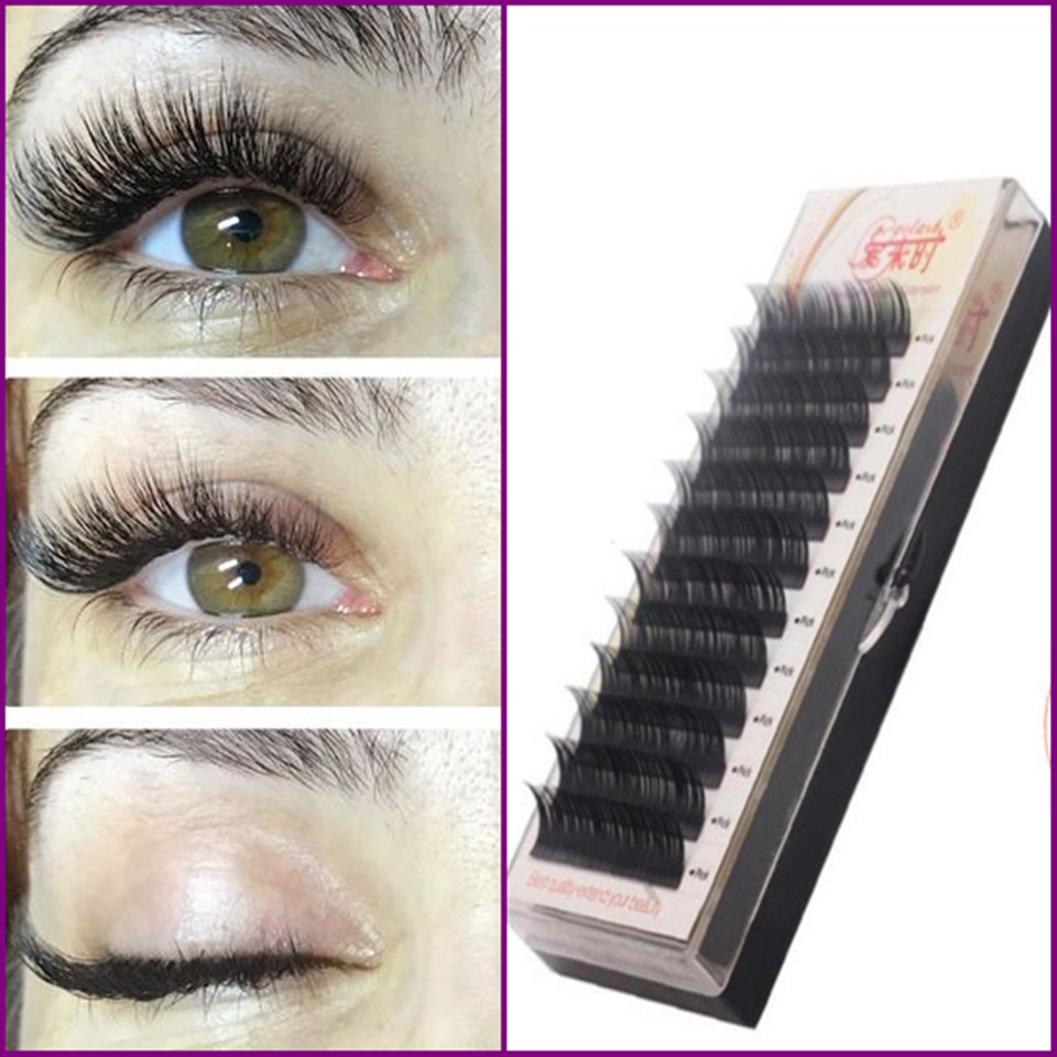 Free Shipping Individual Silk Eyelash Further All Size,High Quality Eyelash Extension Mink,Individual Eyelash Extensions