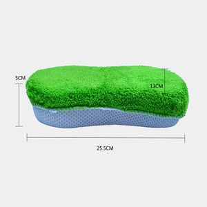Image 2 - 2019 1Pcs New Car Wash Clean Sponge Block Coral Velvet mesh hole Sponge Brush Auto Care Cleaning Car Wash Tool Auto Detailing