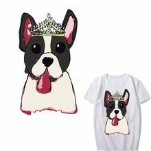 Iron on Cartoon Dog Patch Heat Transfer Vinyl A-level Washable Stickers for Clothing Iron-on Transfers Applique Thermal Press