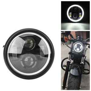 """6.5"""" Motorcycle LED Headlight Hi&Lo HeadLamp Bulb DRL With Angel Ring for Harley Sportster Cafe Racer Bobber Iron 883(China)"""