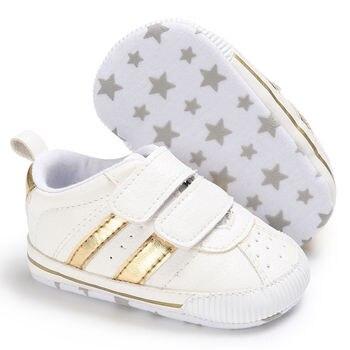 Infant Toddler Soft Sole Hook Loop Prewalker Sneakers Baby Boy Girl Crib Shoes Newborn to 18 Months 1