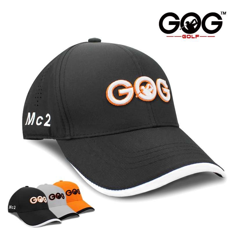 цена golf cap Unisex golf hat Adjustable polyester Snapback Sunscreen GOG Caps Baseball sports hats for men women Free Shipping