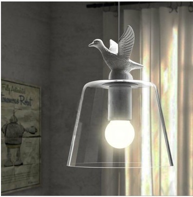 Modern Home Decoration  Bird Light Dining Room Pendant Light Glass Iron Light Bar Light Free Shipping купить