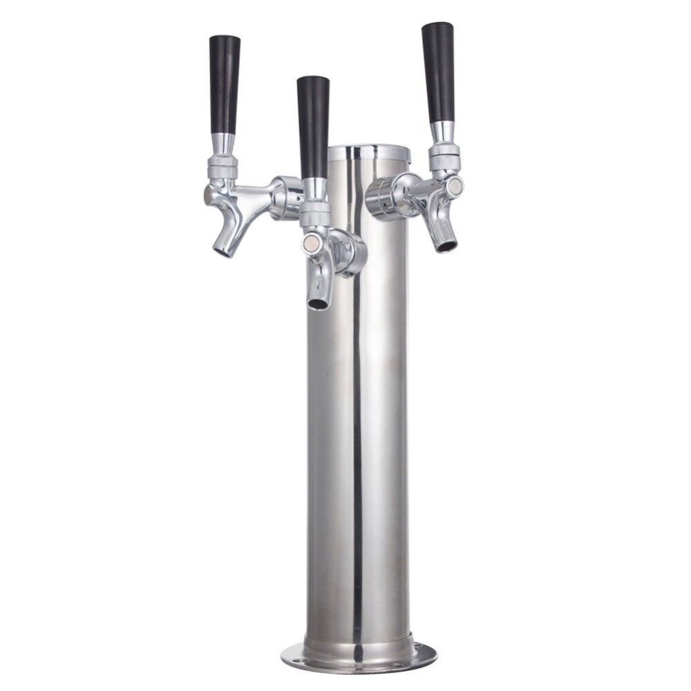 Homebrew Trois Robinets De Bière Tour BARIL TEMPÊTE 304 En Acier Inoxydable Fabrication De La Bière Avec Trois pompe à Bière Robinet Bar Accessoires