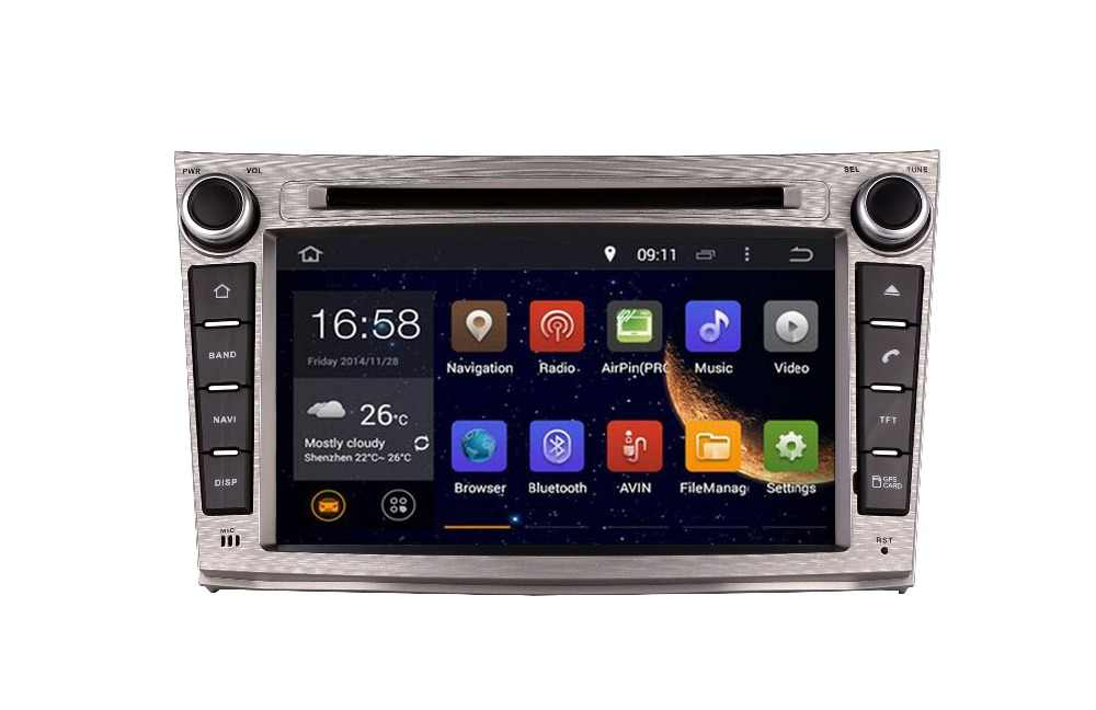 """7 """"4 4g Lte の Android 8.1 IPS クアッドコア車マルチメディア DVD プレーヤーラジオ GPS スバル 2008 2009-2013 DAB + カメラ"""