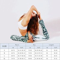 Fitness Printed Yoga Pants Tights Running Leggings Sports Gym Women Tights Yoga Leggings Quick Dry Breathable Trousers 5