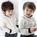Мальчики одежды осень и зима детская одежда детская флис с капюшоном толстовка верхняя одежда повседневная топ толстовки