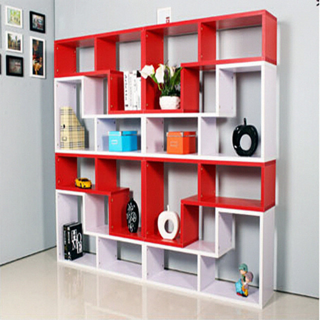 Boutique Fashion Living Room Shelf Storage Rack Office Bookcase Display Cabinets American Bedroom Shipping