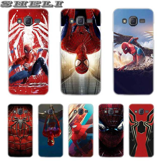 SHELI spiderman marvel siêu anh hùng Mô Hình Trong Suốt điện thoại Di Động túi đối Với Samsung J3 J4 J5 J6 J7 J8 2018 2017 EU 2016 Nguyên Tố